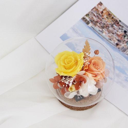 Petite Preserved Flower in Sphere - A Dream in Midsummer