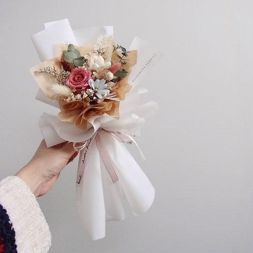 Petite Preserved Flower Bouquet - Pink Quartz