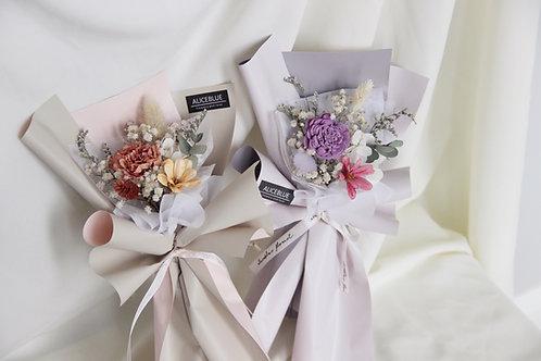 Mini Dried Flower Bouquet (Pink & Purple)