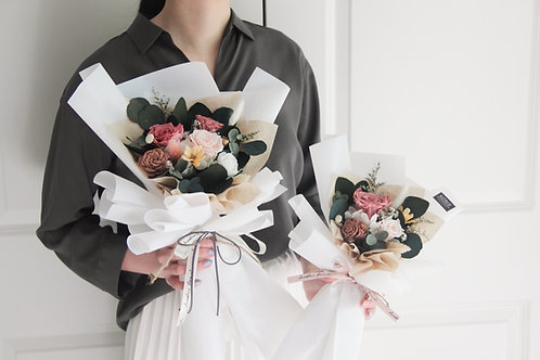 Petite & Standard Preserved Flower Bouquet -Garden of Blush