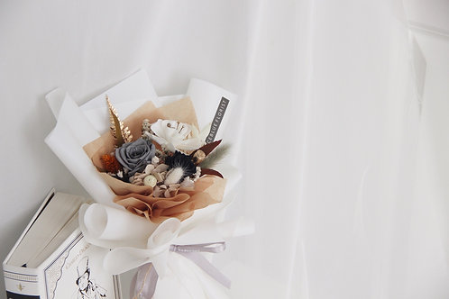 Petite Preserved Flower Bouquet - Warm Taupe