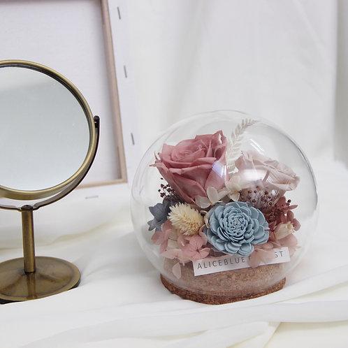 Deluxe Preserved Flower in Sphere - Romantic Heart