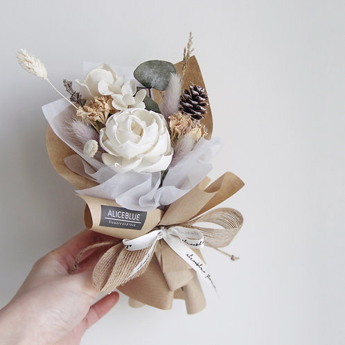 Mini Dried Cotton Flower Bouquet - Mori