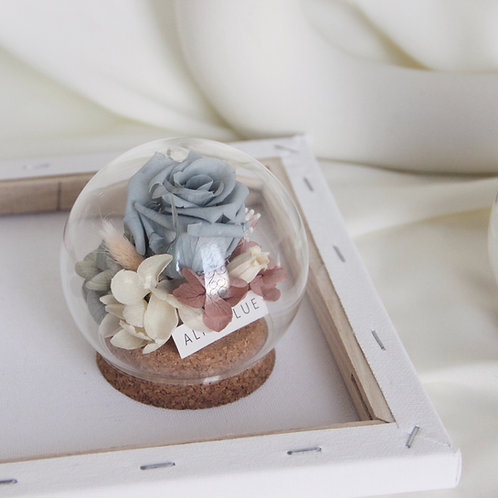 Mini Preserved Flower in Sphere (Morandi)