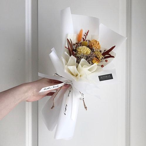 Petite Dried Flower Bouquet (Warm Gold)