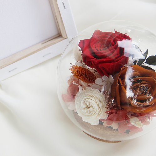 Preserved Flower in Sphere - Royal Rose Garden
