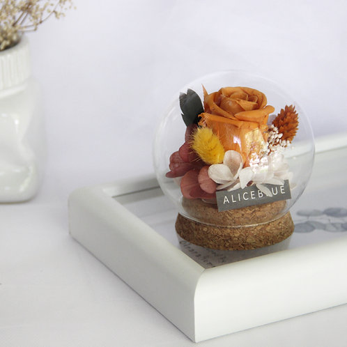 Mini Preserved Flower in Sphere (Summer)