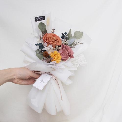 Petite/Standard Preserved Flower Bouquet (Amber Brew)
