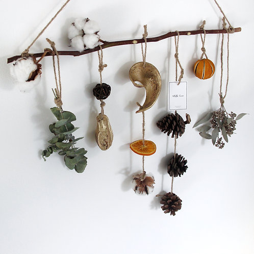 Dried Friut & Plant Wall Hangings ( With Orange Scent)
