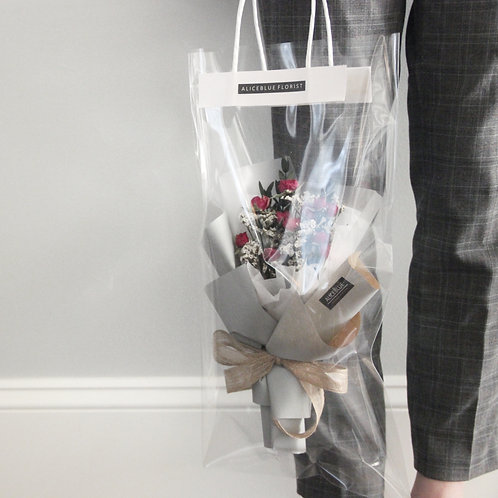 Petite Dried Flower Bouquet in Bag (Offwhite)