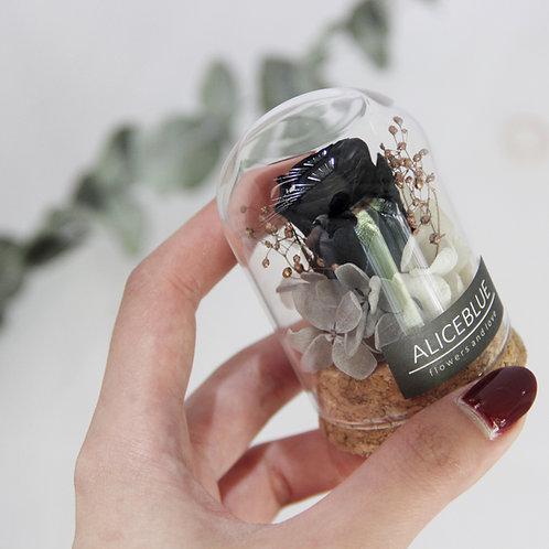Nano Preserved Flower in Glass Dome (Black)