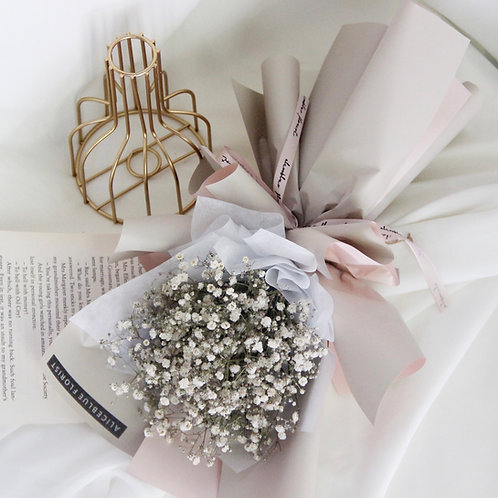 Petite Dried Baby's Breath Flower Bouquet