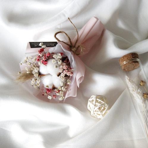 Micro Dried Cotton Flower Bouquet (Sakura)