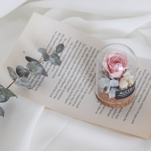 Nano Preserved Flower in Glass Dome (Spring)