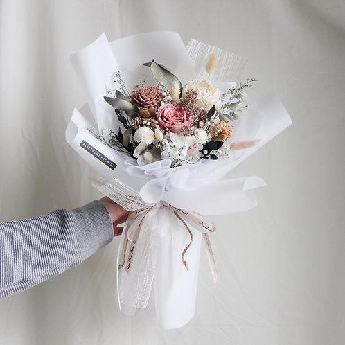 Deluxe Preserved Flower Bouquet (Pink Sea Salt)