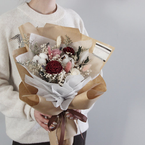Deluxe Preserved Flower Bouquet (Ceramica)
