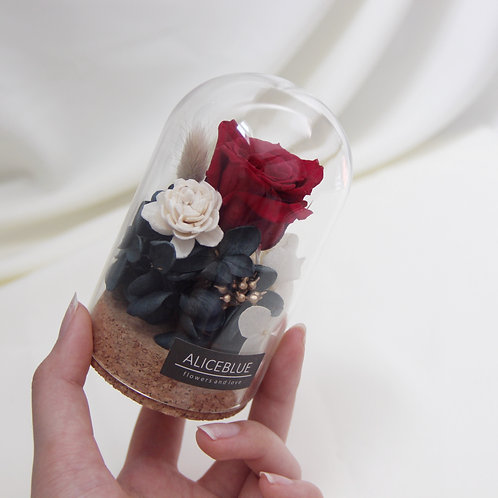 Mini Preserved Flower in Glass Dome - Rose Manor