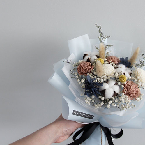 Standard Preserved Flower Bouquet (Icy Blue)