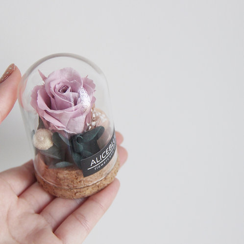 Nano Preserved Flower in Glass Dome (Plum Smoke))