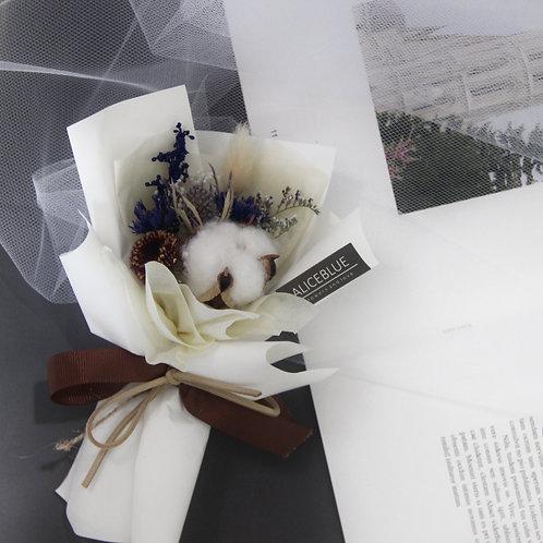 Mini Cotton Bouquet (Blue - Beige)
