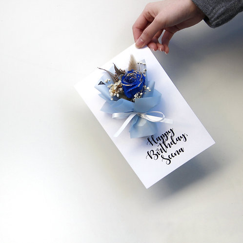 XL Personalized Preserved Flower Cards (Bouquet - Calligraphy)