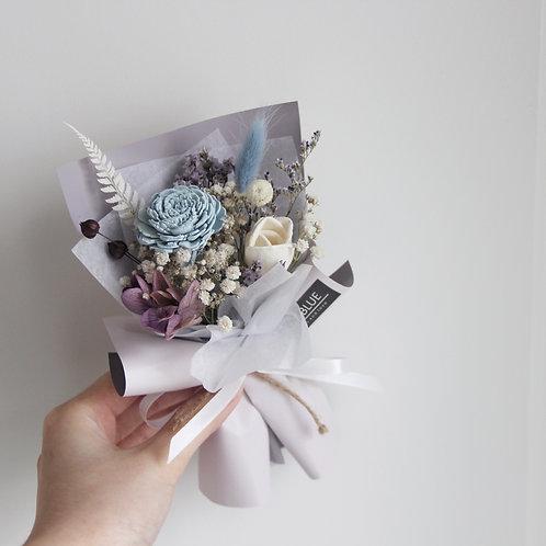 Mini PreservedFlower Bouquet - Smoky Seurat