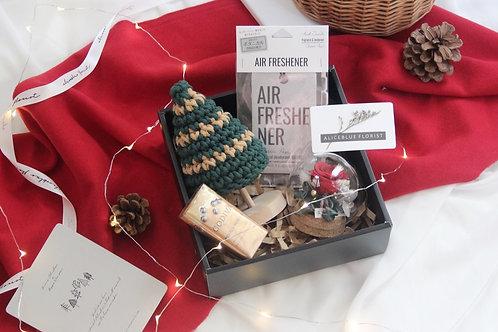 Christmas Gift Box w/ Preserved Flower in Sphere