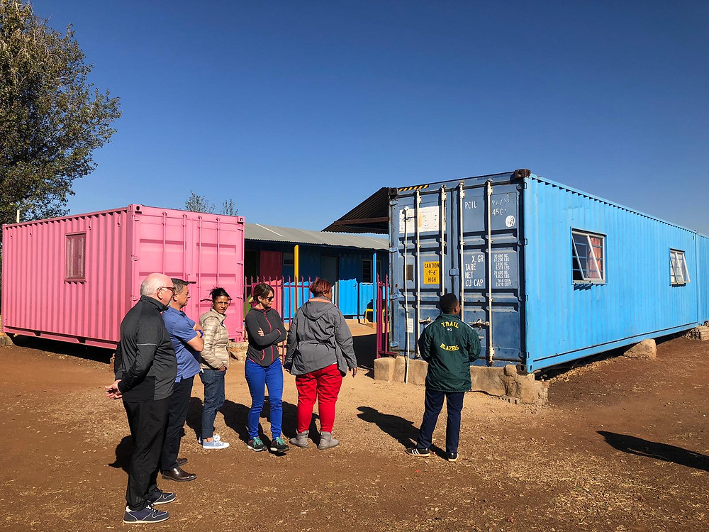 Containers for educational skills in Meadowlands