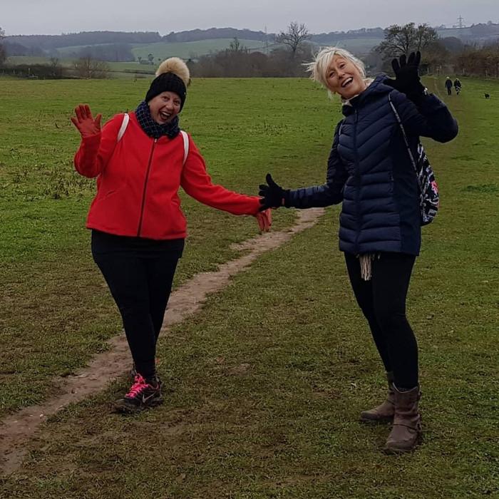 Sue walks 10k to help the homeless