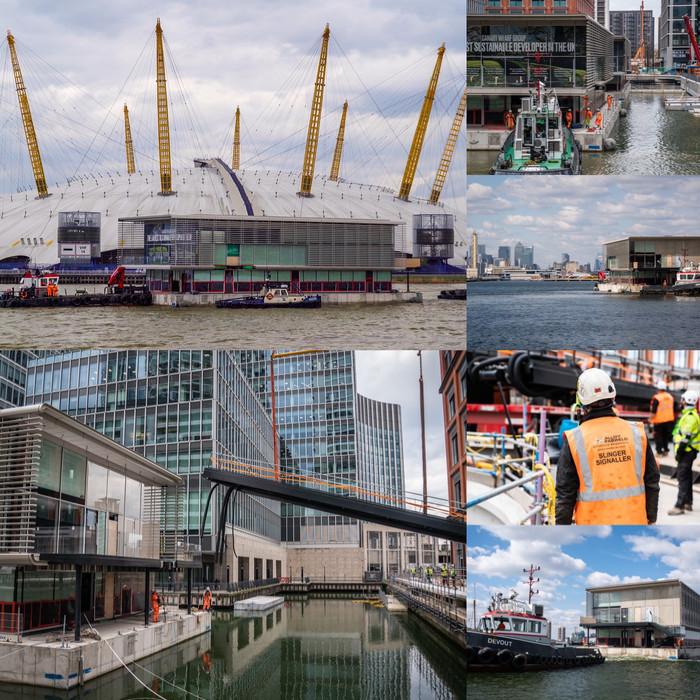 Floating Pavilions Sail into Canary Wharf