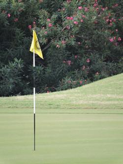 1st hole flag