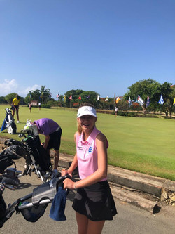 RD 2 CAGA - Holly heads for the tee