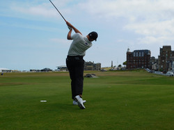 Aaron Jarvis on the Old Course