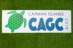 cagc logo on grass wall