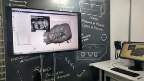 Medição de face - Comparação de dados de scanners
