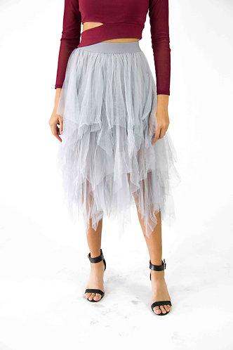 Handkerchief Mesh Skirt
