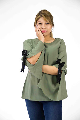 Bow Sleeves Top