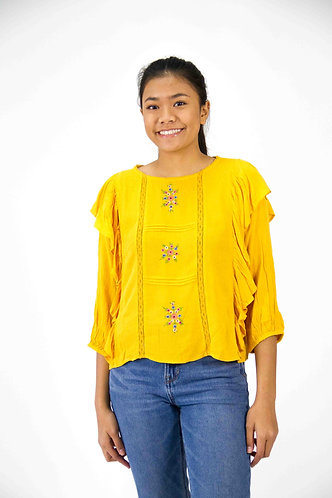 Front Ruffle Top