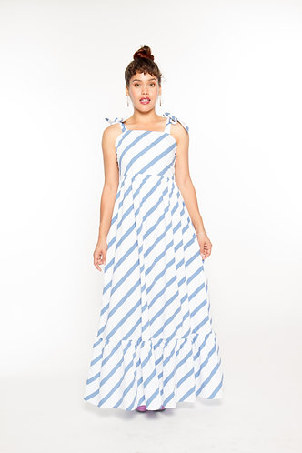 Shoulder Tie-up Dress