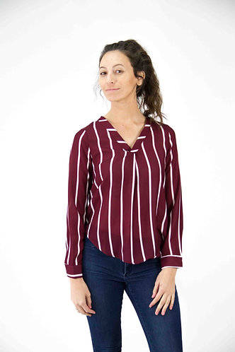 Striped Full Sleeve Top