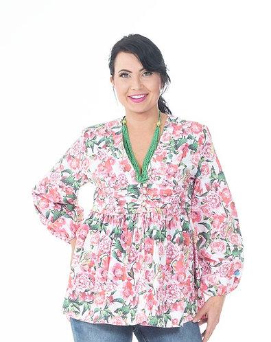 Floral Print Cotton Jacket