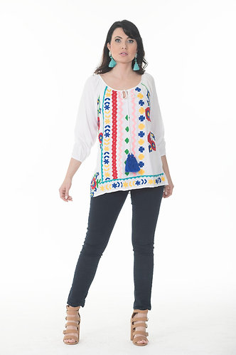 Color Embroidery Top