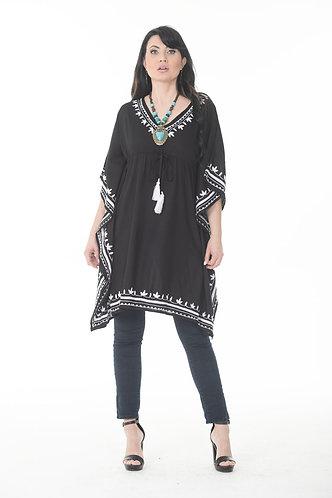 Waist String Embroidered Kaftan