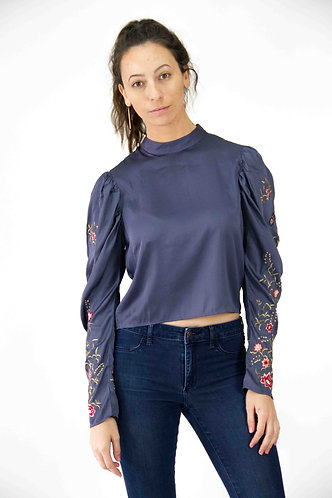 Back Button-up Top