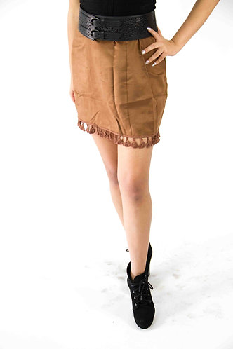 Brown Velvet Skirt