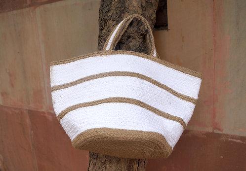 WHITE COLOR FINISHED JUTE BAG