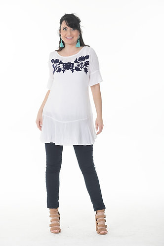 Trendy Linen Tunic Top