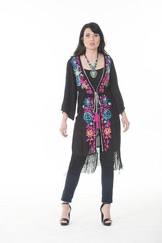 Multicolor Embroidery Kimono