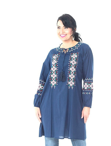 Light Embroidered Tunic Top