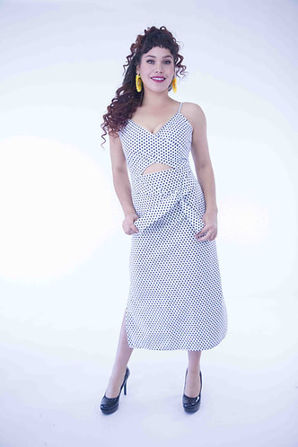 Polka Dotted Long Dress